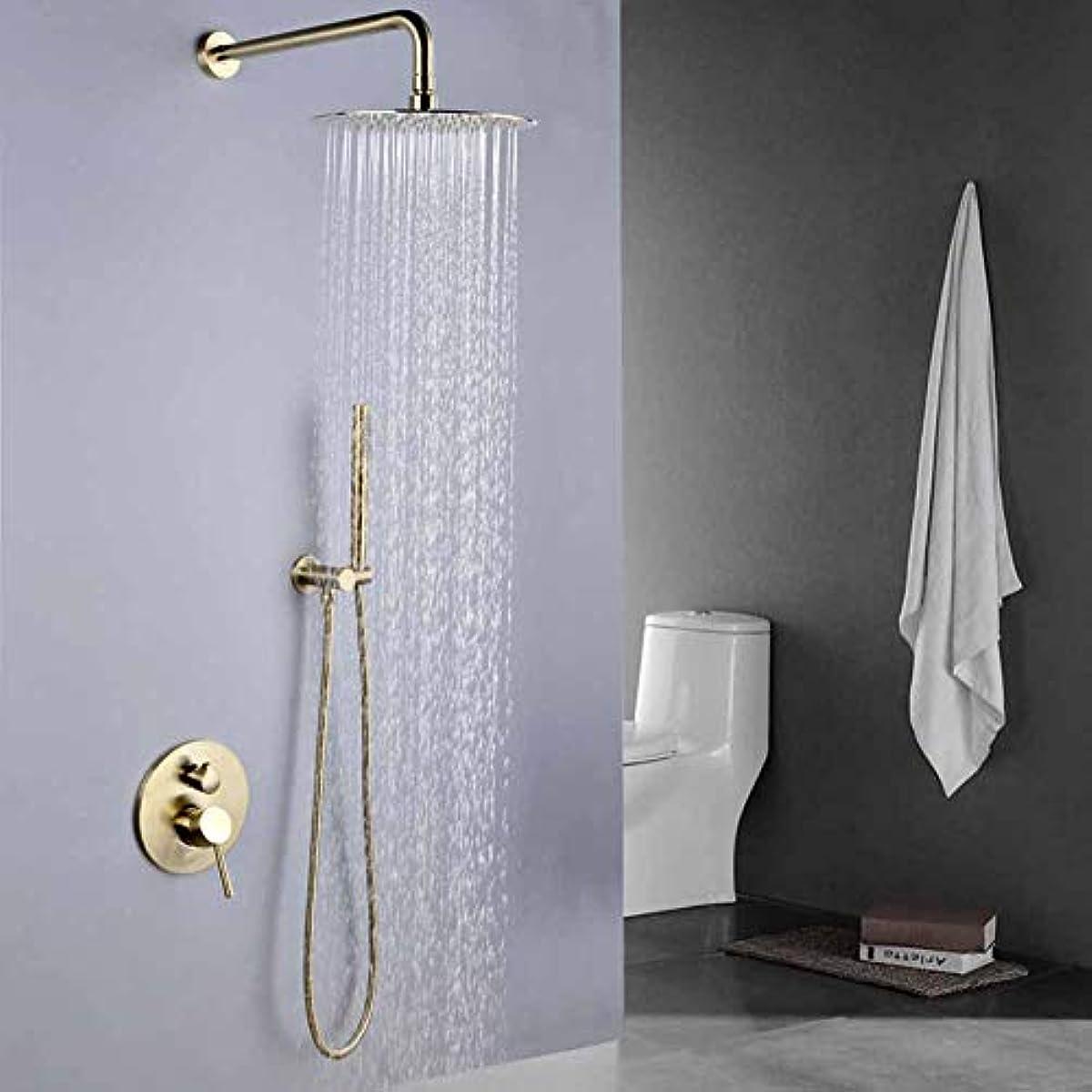 光のスタジオスティーブンソンシャワーシステム、ローズゴールドフィニッシュ固体真鍮シャワーダイバータバルブの蛇口セットラウンドシャワーヘッド浴室ウォールシャワーキット浴室シャワーミキサーセット