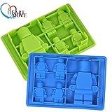 ハートモーブ1個レゴ&ロボットタイプマフィンスウィートキャンディゼリーフォンダンケーキチョコレートモールドシリコンツールベーキングパン9528