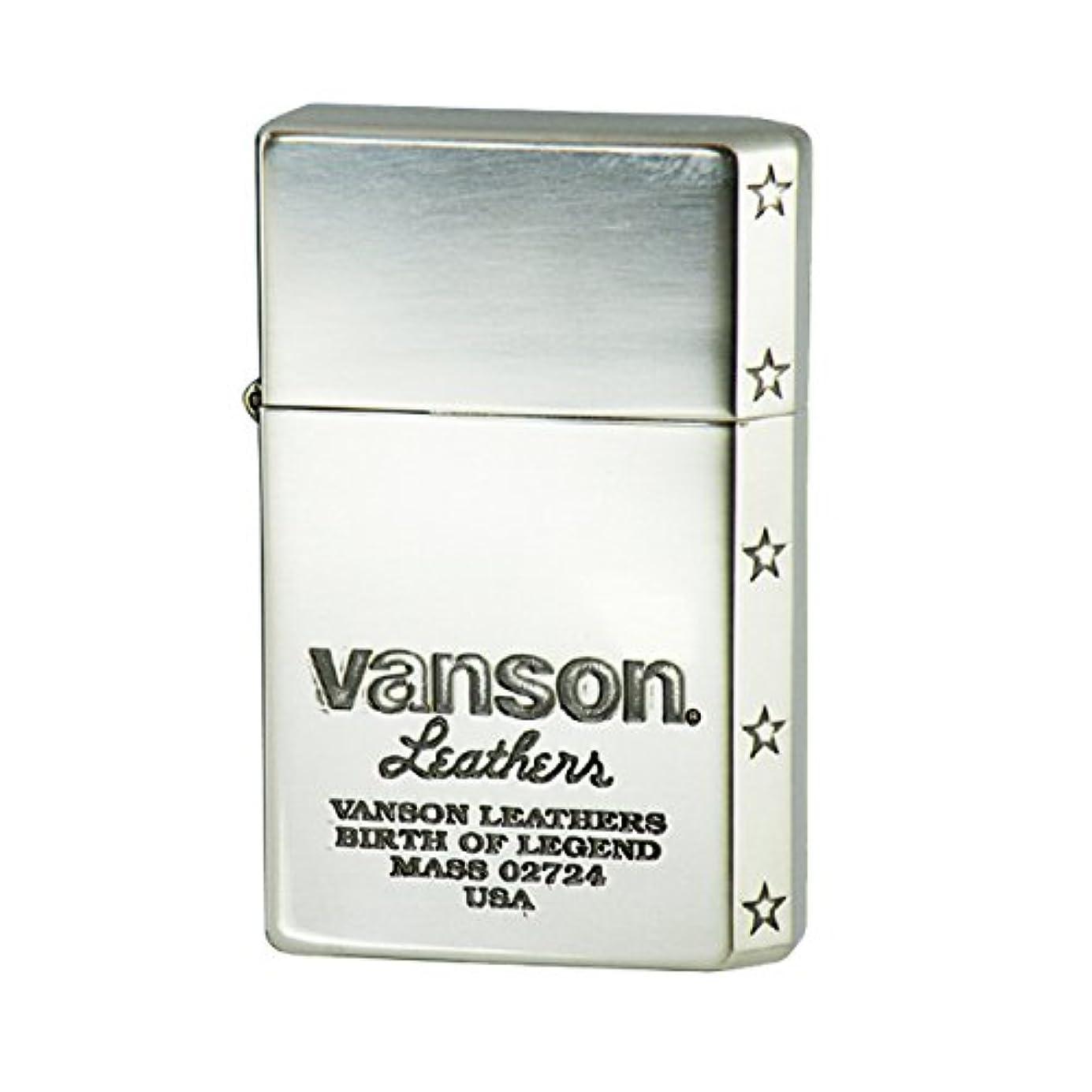 きれいに常習的クレタオイルライター 名入れ 日本製 GEAR TOP ギアトップ VANSON バンソン ロゴデザイン シルバー V-GT-05