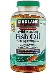 Kirkland Signature Wild Alaskan Fish Oil 1400mg, 230 Count by Kirkland Signature