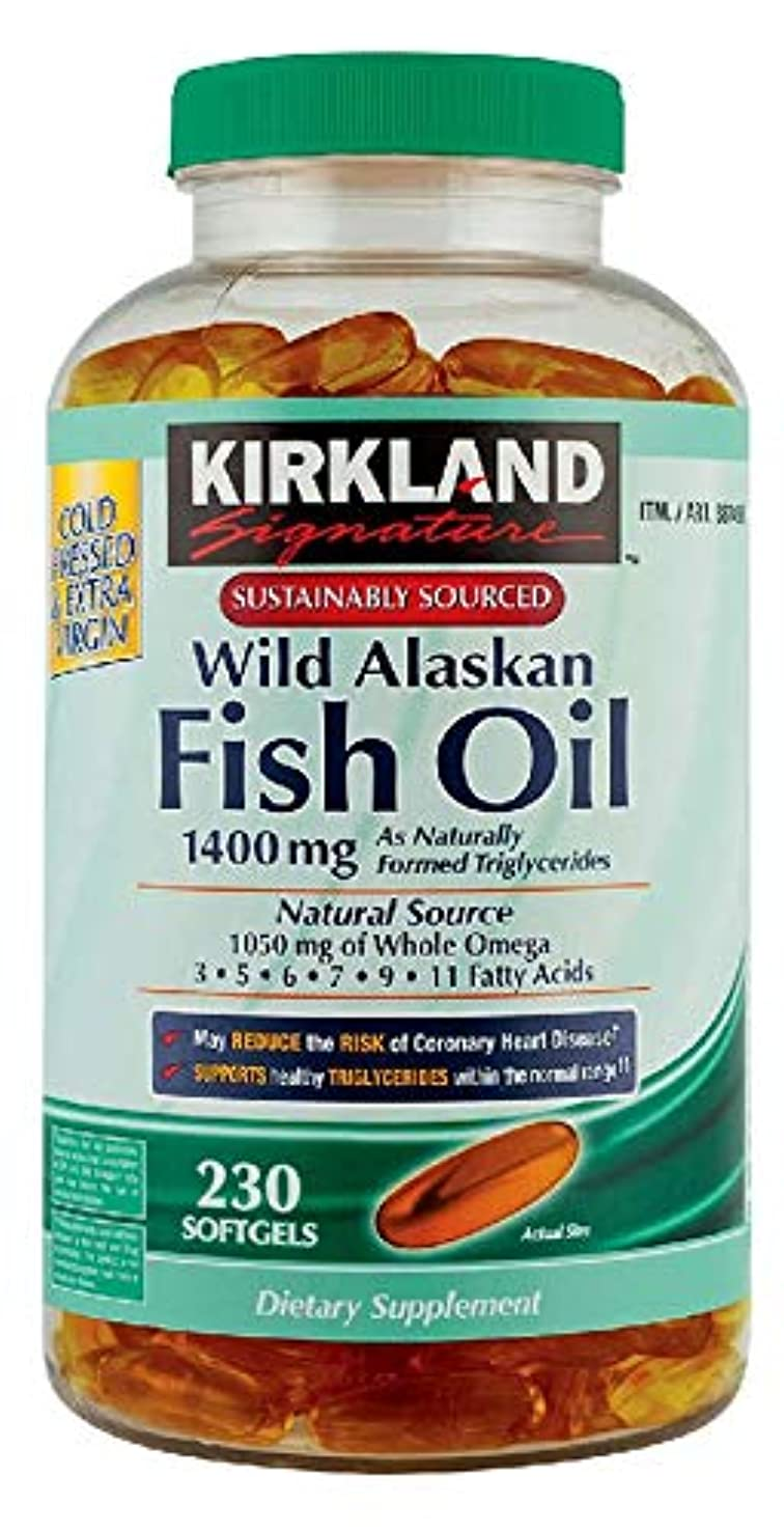 測定小包密輸Kirkland Signature Wild Alaskan Fish Oil 1400mg, 230 Count by Kirkland Signature