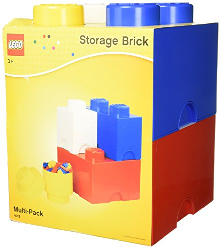 [レゴ]LEGO Storage Brick Multi Pack , Bright Red/Bright Blue/Bright Yellow/White 40150601 [並行輸入品]