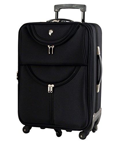 M型 ブラック / newFS1538 ソフト スーツケース キャリーケース TSAロック搭載 超軽量(3?5日用)