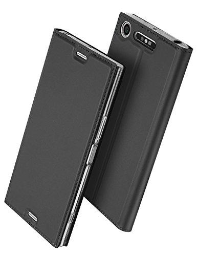 Xperia XZ1 Compact 手帳型 ケース、Uniqe 軽量 So...