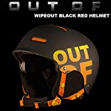 OUT OF OUT OF(アウトオブ)ヘルメット WIPEOUT BLACK RED HELMET  スノーボード・スキー ヘルメット M(56-59cm)