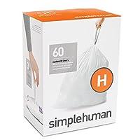 simplehumanコードH パーフェクトフィットゴミ袋 30-35L / 60袋 CW0258