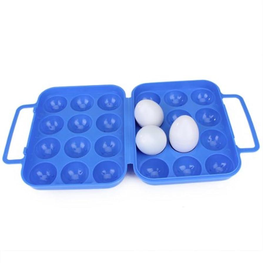 すなわち輝く説明Non-brand 卵箱 ポータブル 折りたたみ プラスチック 卵収納容器  青