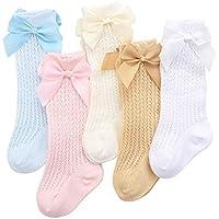 0eb4e09f11792 Ainial ソックス ベビー 女の子 ハイソックス 春夏 メッシュ リボン付き 可愛い 靴下 子供 赤ちゃん 新生児 クルー