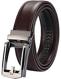 8fe9fee146bd ベルト オートロック メンズ 革 ビジネス 紳士 ベルト式 バックル OUKEY 穴無し レザーベルト カジュアル