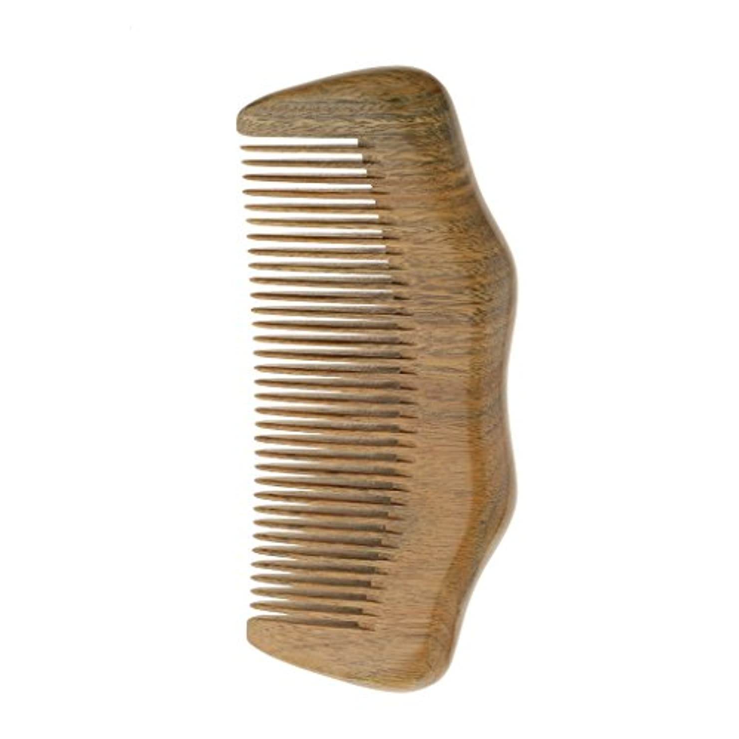 パウダーフロントスタウトナチュラル ビャクダンの櫛 広い歯の帯電防止 ヘッドマッサージ ヘアケアウッド