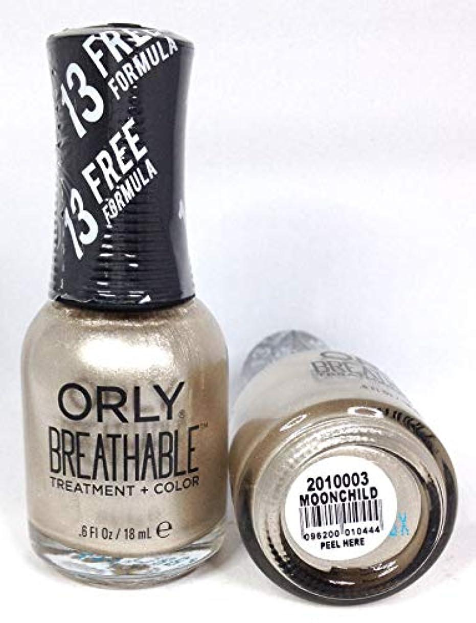 普通に備品ガラスORLY Breathable Lacquer - Treatment+Color - Moonchild - 18 mL / 0.6 oz