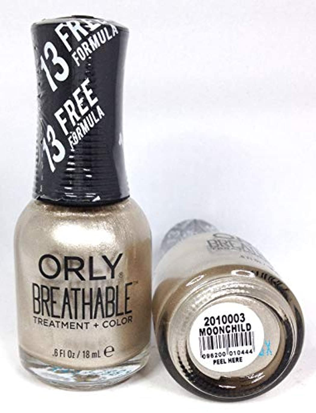 毒液拍手先にORLY Breathable Lacquer - Treatment+Color - Moonchild - 18 mL / 0.6 oz