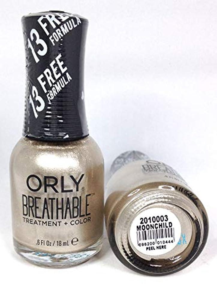 カストディアン内側縫い目ORLY Breathable Lacquer - Treatment+Color - Moonchild - 18 mL / 0.6 oz