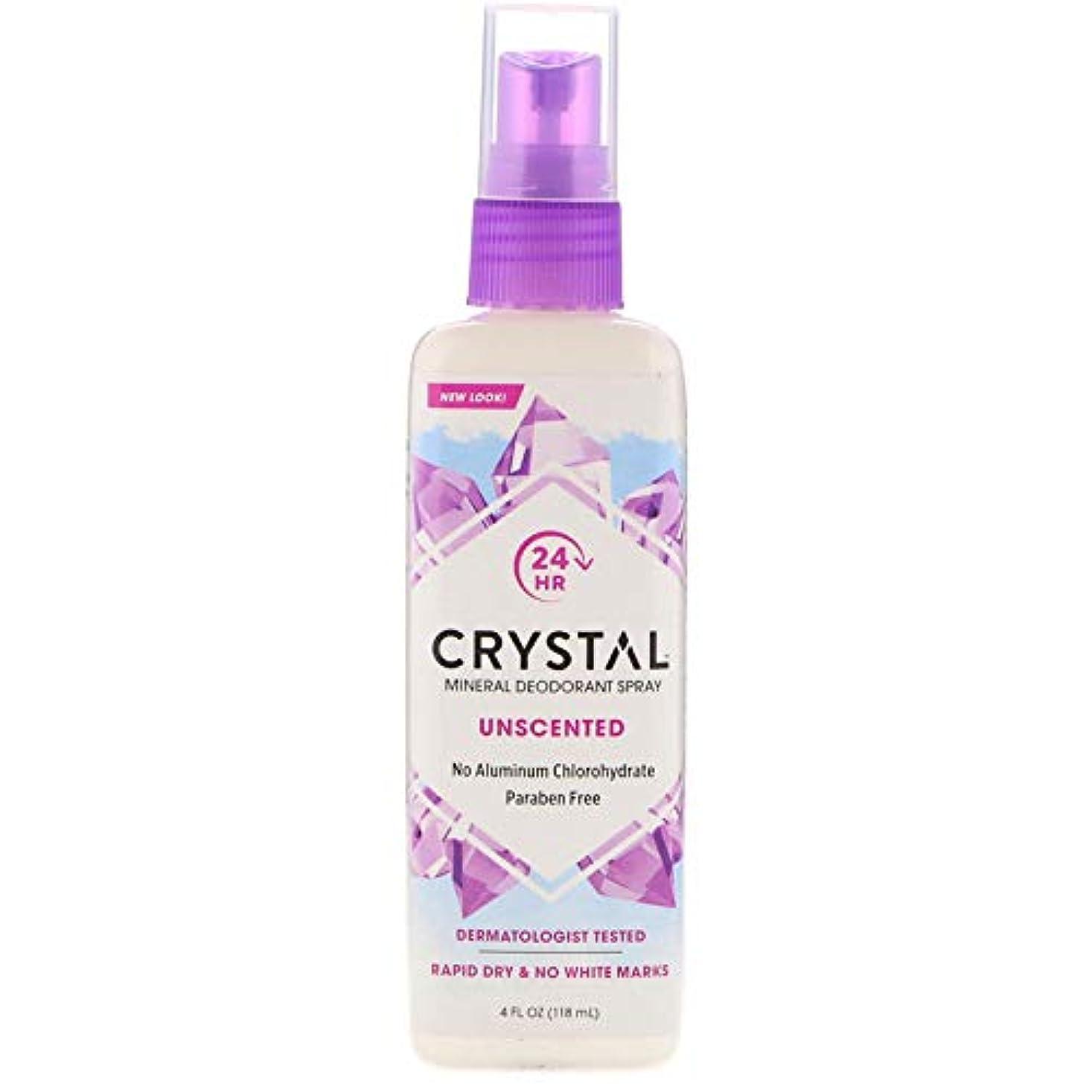 石灰岩補償野望クリスタル(Crystal) ミネラルデオドラントスプレー(無香料) 118ml [並行輸入品]