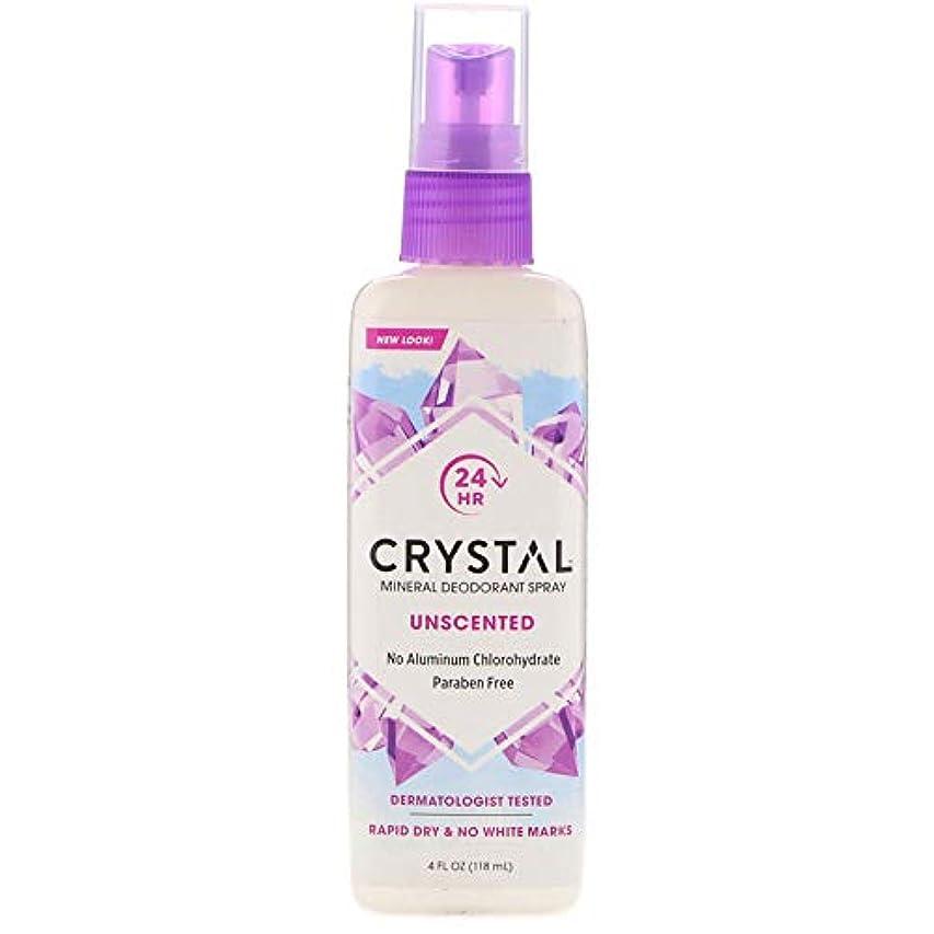 強度実験的時々時々クリスタル(Crystal) ミネラルデオドラントスプレー(無香料) 118ml [並行輸入品]
