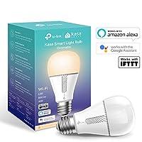 TP-Link KL110 KasaスマートWi-Fi電球、E27 / B22、10W、Amazon Alexa(エコーおよびエコードット)、Google HomeおよびIFTTTと併用可能、調光対応ソフトウォームホワイト、ハブ不要[エネルギークラスA +]