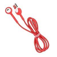 B Baosity 携帯電話 USBケーブル 120cm ホルダー エルボー 充電ケーブル 耐久性 Android用 全5色 - 赤