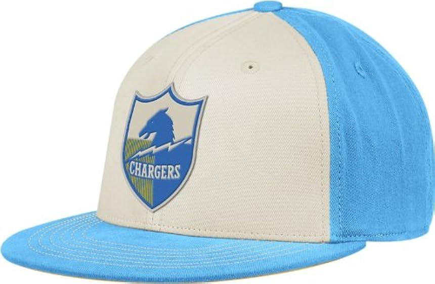 マネージャー蓋オプションSan Diego ChargersリーボックレトロスポーツThrowbackフラットビルFlex Hat