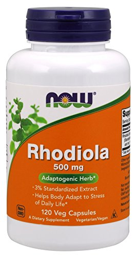 Newサイズ 120 ベジカプセル入り お得サイズ Rhodiola 500 mg, 120 veg caps - ロディオラ 500 mg, 120 ベ...