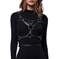 LINE Leather Straps Harness Punk Body Chest Caged Waist Belts Adjustable