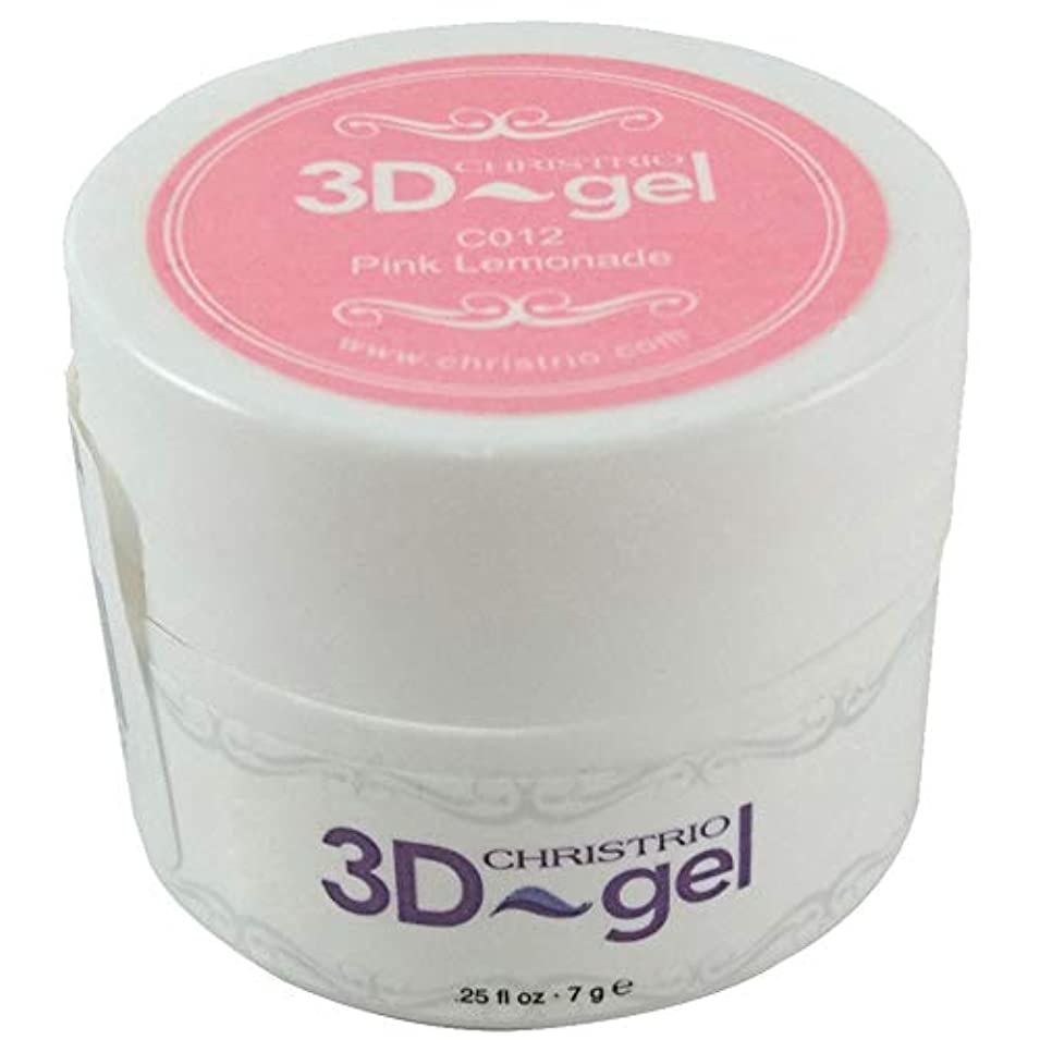 アライアンス上がる塗抹CHRISTRIO 3Dジェル 7g C012 ピンクレモネード