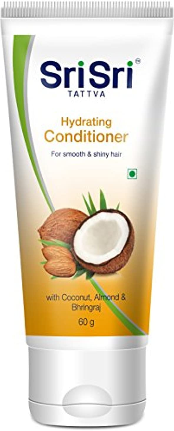 聴衆事実上いらいらするSri Sri Ayurveda Hydrating Conditioner (60 g)
