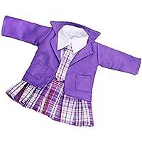 Lovoski  人形用 ファッション 人形 服 シャツ ミニドレス コート ネクタイ 学校 制服 セット 18インチ アメリカンガールドール対応