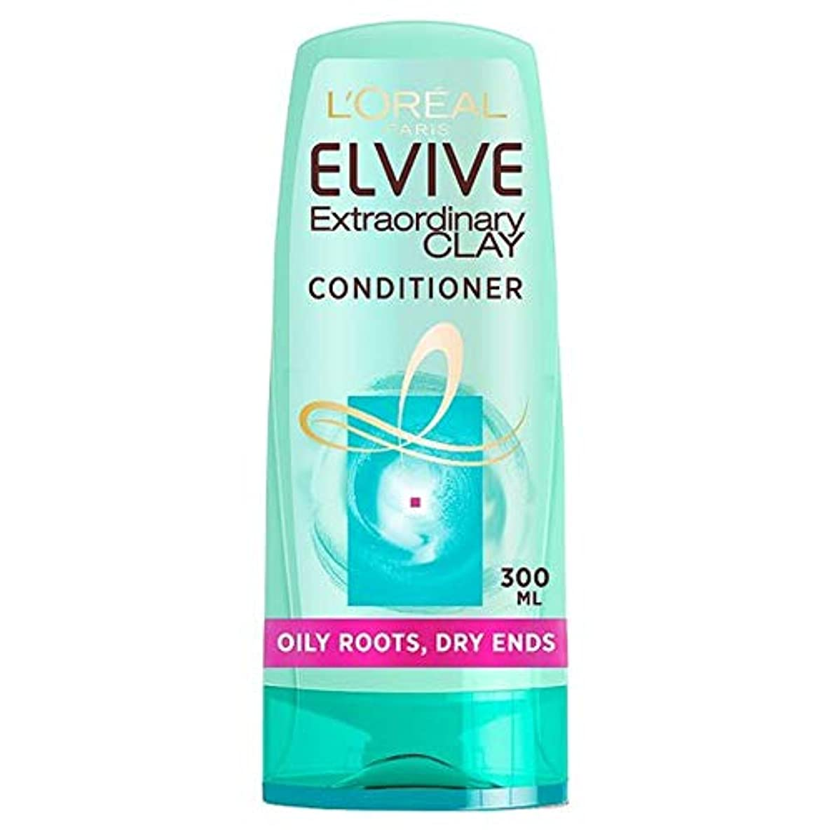 [Elvive] ロレアルのElvive粘土油性根コンディショナー300ミリリットル - L'oreal Elvive Clay Oily Roots Conditioner 300Ml [並行輸入品]