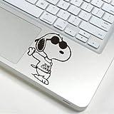 スヌーピー snoopy アートステッカー Macbook/ipad等 トラックパッド対応 PCスキンシール wsb12 [並行輸入品]