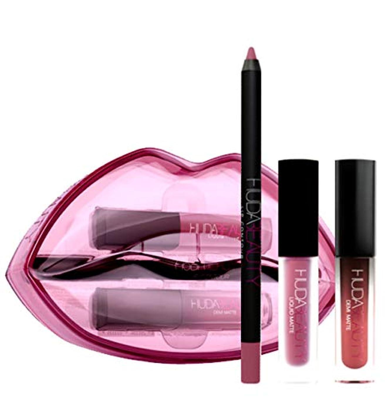 寄託争いペニーHUDA BEAUTY 限定版 Demi Matte & Cream Lip Set - Sheikha & Trophy Wife [海外直送品] [並行輸入品]