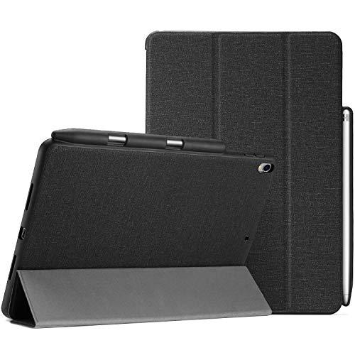 "ProCase iPad Pro 10.5 ケース 超薄型 軽量 スリム フォリオケース 保護ケース スマートカバー iPad Pro 10.5インチ 2017 10.5"" New iPad Air (3rd) 2019モテルナンバー:A2152 A2123 A2153 A2154専用 Apple Pencil ホルダー付き –ブラック"