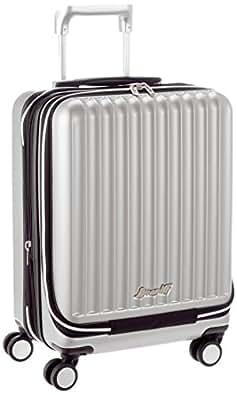[ブラニフインターナショナル] BRANIFF INTERNATIONAL スーツケース 48cm 44L 機内持込可 拡張可 フロントオープン TSAロック 2年保証 ジッパー開閉 BBT115 Silver (シルバー)