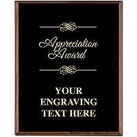 会社の感謝の飾り板 - 8 x 10 ゴールドエッチング認識トロフィープレートプライム