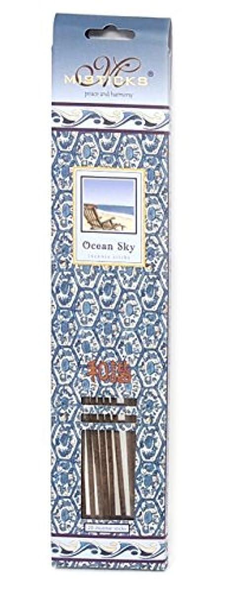 債務者トムオードリース口述するOcean Sky Incense Sticks by Misticks、長い燃焼手作りHerbal Incense Made with Pureエッセンシャルオイルのブレンド、20 Sticks