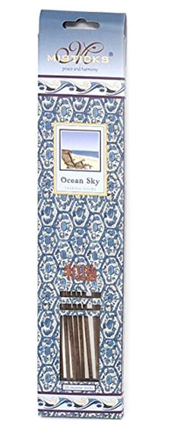生き返らせる尊敬するボックスOcean Sky Incense Sticks by Misticks、長い燃焼手作りHerbal Incense Made with Pureエッセンシャルオイルのブレンド、20 Sticks