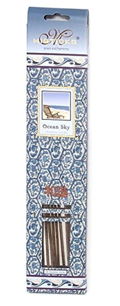 スリンク狼値Ocean Sky Incense Sticks by Misticks、長い燃焼手作りHerbal Incense Made with Pureエッセンシャルオイルのブレンド、20 Sticks