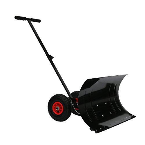 雪かき 道具 車輪付き ワイド ラッセル 除雪 タイヤ付き スノープッシャー スコップ ダンプ ショベル △_83199