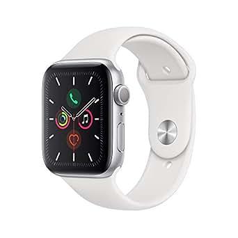Apple Watch Series 5(GPSモデル)- 44mmシルバーアルミニウムケースとホワイトスポーツバンド - S/M & M/L