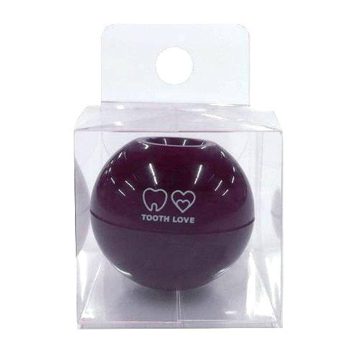 群集人気に対処するTOOTH LOVE BALL ホルダー (歯間ブラシホルダー) ブラウン