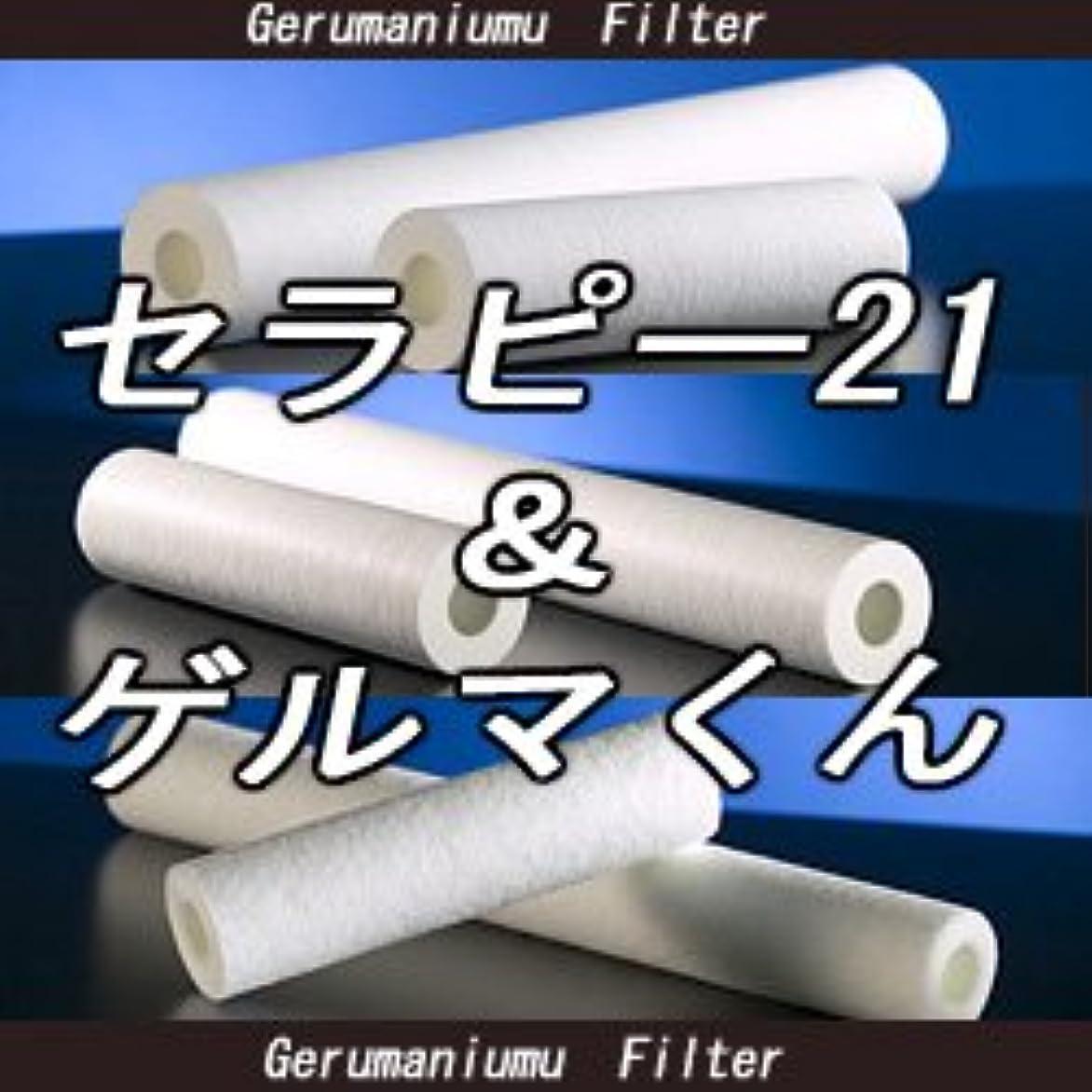 一致する余剰パントリーセラピー21?ゲルマくん【交換用フィルター 6本セット】ゲルマニウム温浴?温浴器