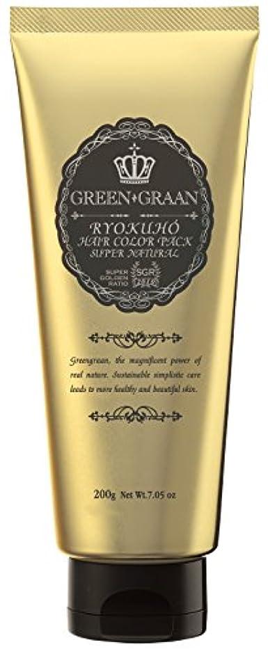 ラッカス差別するソフトウェアグリングラン 緑宝ヘアカラーパックSN(専用手袋付き)エスプレッソ 200g