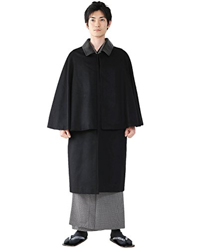 (キョウエツ) KYOETSU 和装コート メンズ トンビ/インバネス 二重回し カシミヤ生地100%