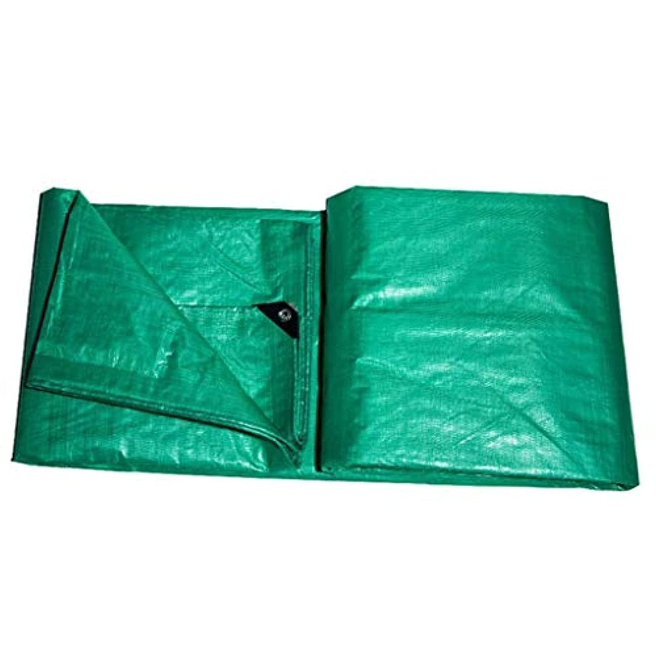 絶壁賞支配的防水シートスーパー防水防雨多目的屋外シェードヘビーデューティターポリン多機能タープ - 100%防水、マルチサイズオプションプールカバーターポリン FENGMIMG (色 : 緑, サイズ さいず : 5mx7m)