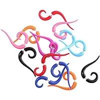 F Fityle 14x Fake Acrylic Spiral Taper Ear Cheater Plugs Flesh Acrylic Plugs Piercing
