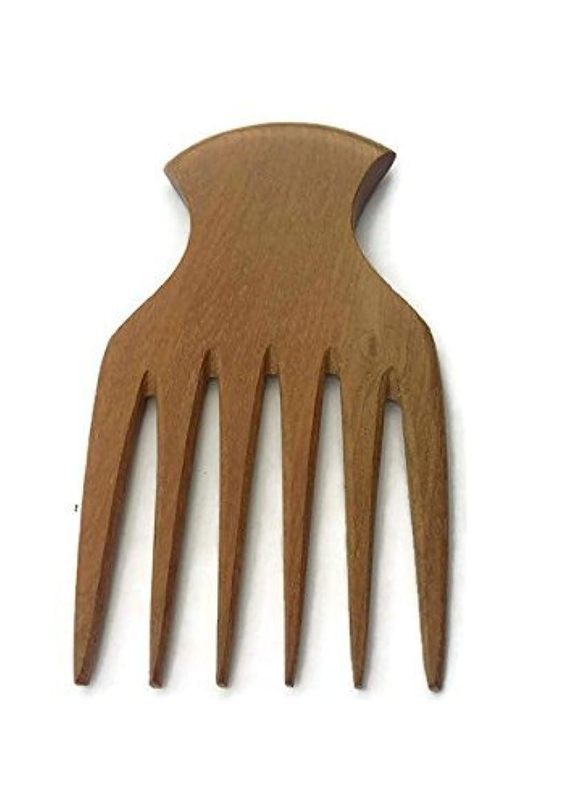 留まる読みやすさ成功するPlai Na natural wood comb afro pick handmade for thick and curly hair [並行輸入品]