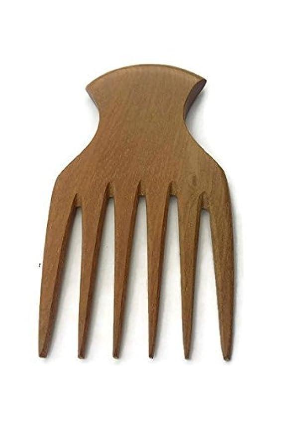 刑務所機密災難Plai Na natural wood comb afro pick handmade for thick and curly hair [並行輸入品]