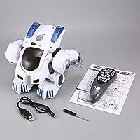 K4インテリジェント指紋変形警察rcロボットウォーキングダンス言って滑り子供リモートコントロールおもちゃギフト
