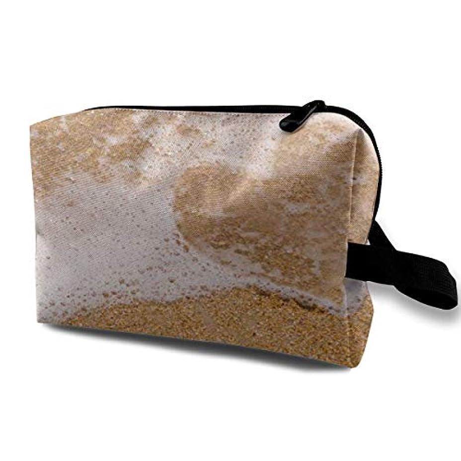 サバントスキニーあなたが良くなりますBeach Theme 収納ポーチ 化粧ポーチ 大容量 軽量 耐久性 ハンドル付持ち運び便利。入れ 自宅?出張?旅行?アウトドア撮影などに対応。メンズ レディース トラベルグッズ