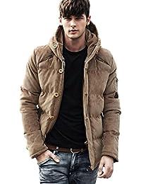 (ライズオンフリーク)RISEONFLEEK メンズ ダウン ジャケット コート フード アウター ボタン ファスナー 秋 冬 防寒 長袖 GO-25