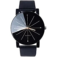 Fashion New Women Men PU Leather Watches Analog Quartz Movement Wrist Watch 1PC Unique Analog Business Casual Fashion Wristwatch,Clearance Cheap Watches with Round Dial Alloy Case